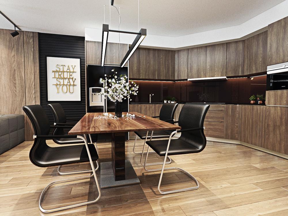 thiết kế nội thất phòng bếp chung cư 67m2  đẹp