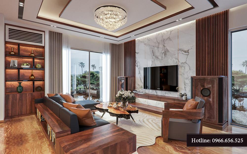 Thiết kế nội thất biệt thự liền kề cao cấp ảnh 2