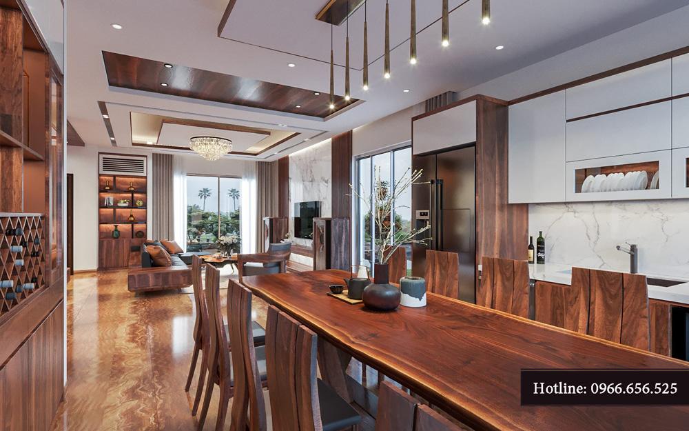 Thiết kế nội thất biệt thự liền kề cao cấp ảnh 4