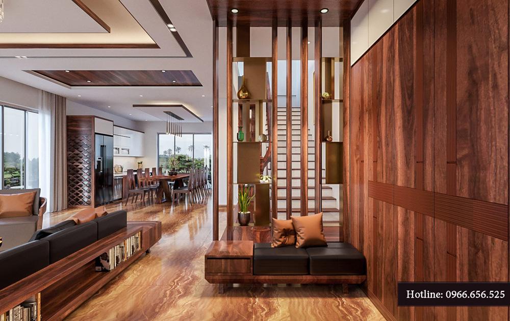 Thiết kế nội thất biệt thự liền kề cao cấp ảnh 9