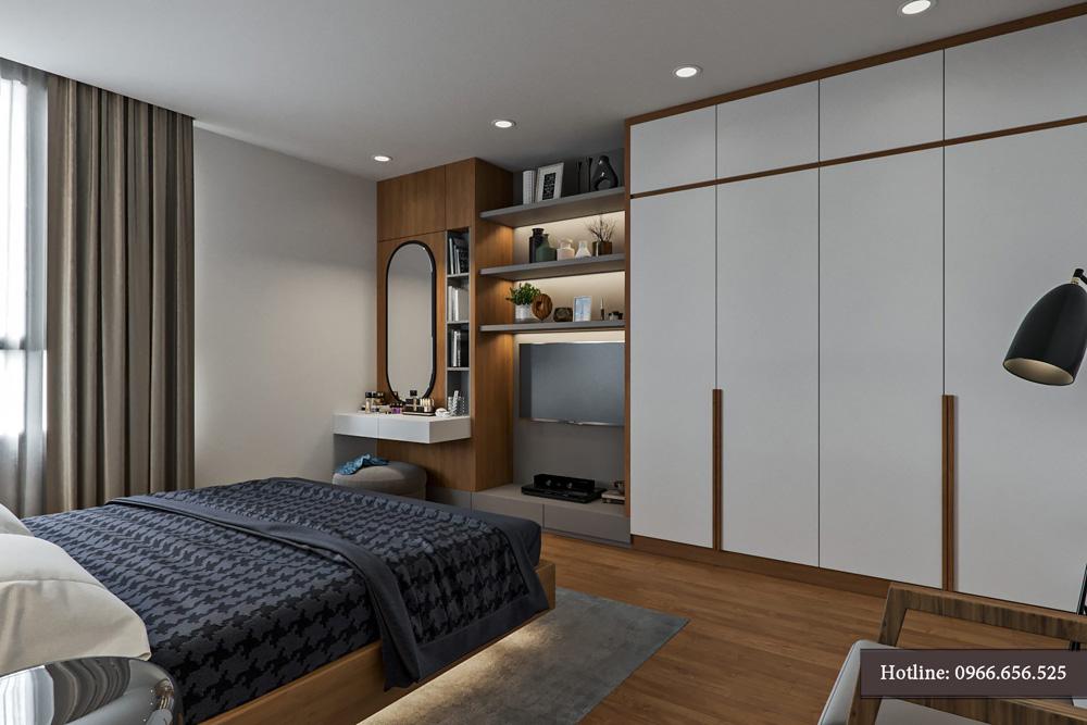 thiết kế nội thất chung cư 95m2 ảnh 10