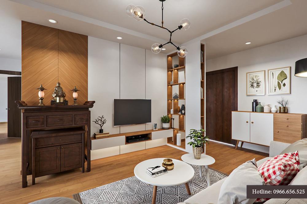 thiết kế nội thất chung cư 95m2 ảnh 2