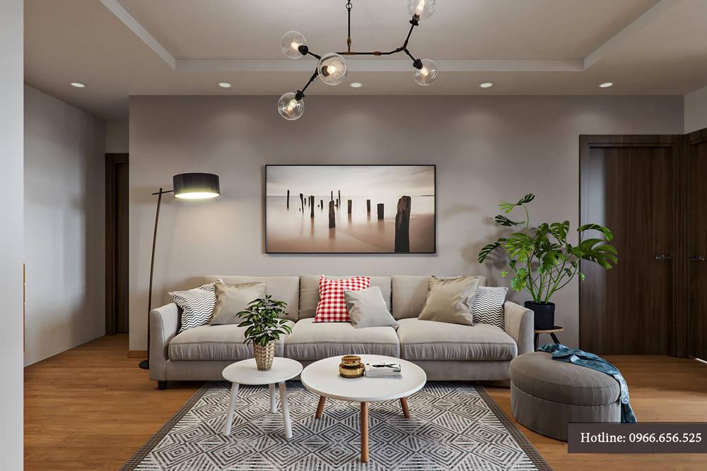 thiết kế nội thất chung cư 95m2 ảnh 3