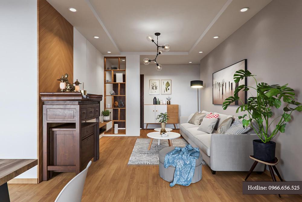 thiết kế nội thất chung cư 95m2 ảnh 4
