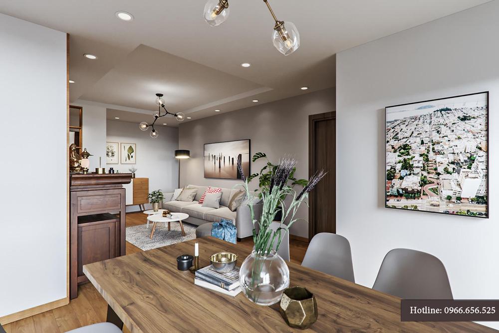 thiết kế nội thất chung cư 95m2 ảnh 5