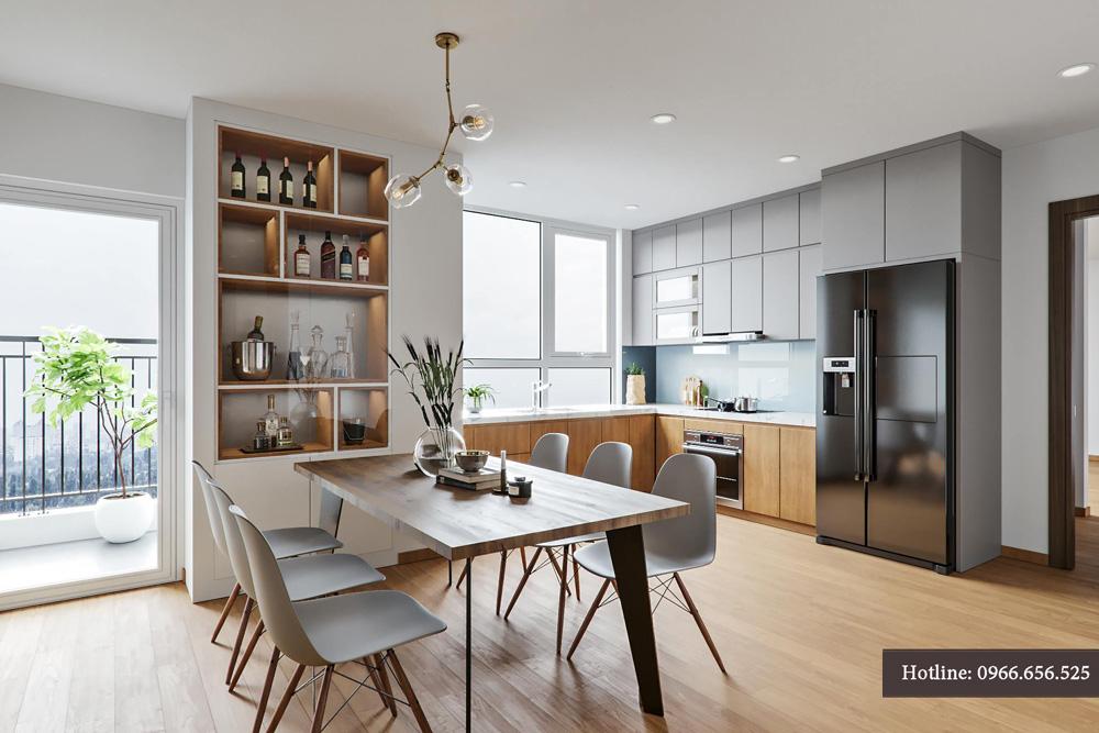 thiết kế nội thất chung cư 95m2 ảnh 6