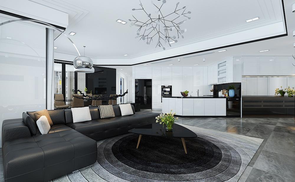Thiết kế nội thất chung cư cao cấp 100m2 đẹp 2
