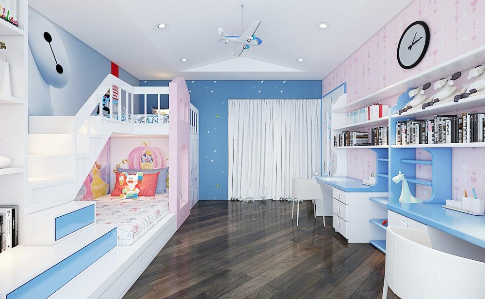 Thiết kế nội thất chung cư cao cấp 100m2 đẹp 20