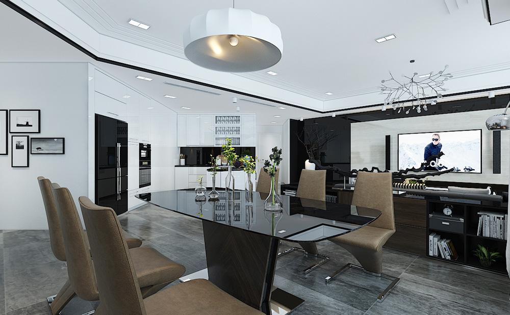 Thiết kế nội thất chung cư cao cấp 100m2 đẹp 3