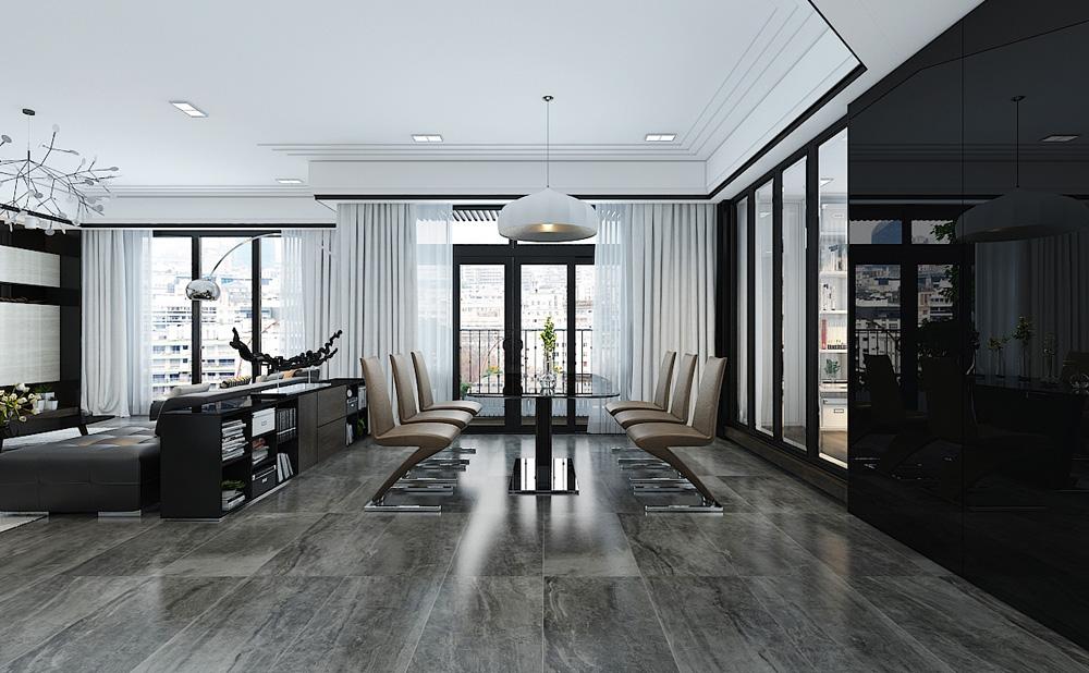 Thiết kế nội thất chung cư cao cấp 100m2 đẹp 5
