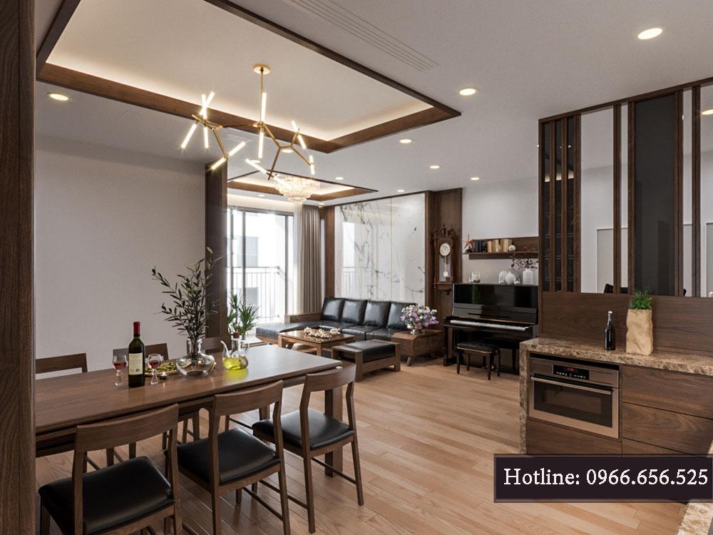 thiết kế nội thất chung cư tecco thanh trì ảnh 15