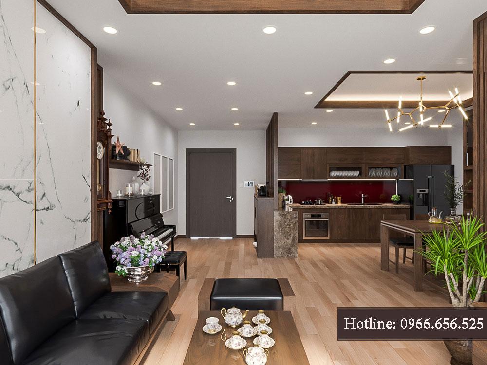 thiết kế nội thất chung cư tecco thanh trì ảnh 16