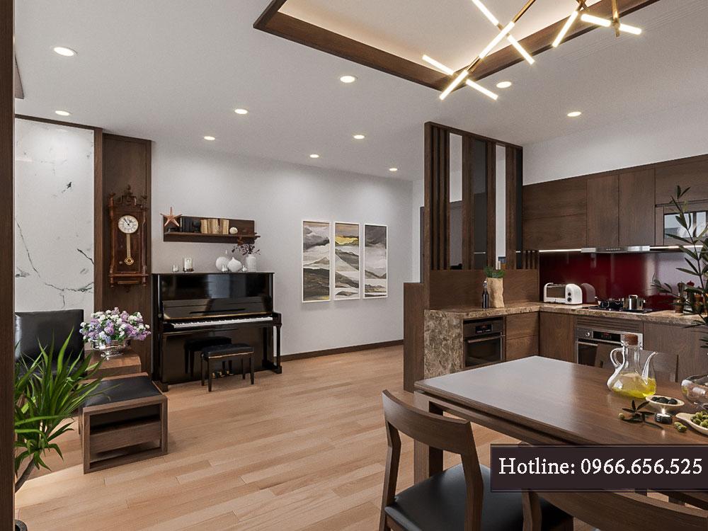 thiết kế nội thất chung cư tecco thanh trì ảnh 17