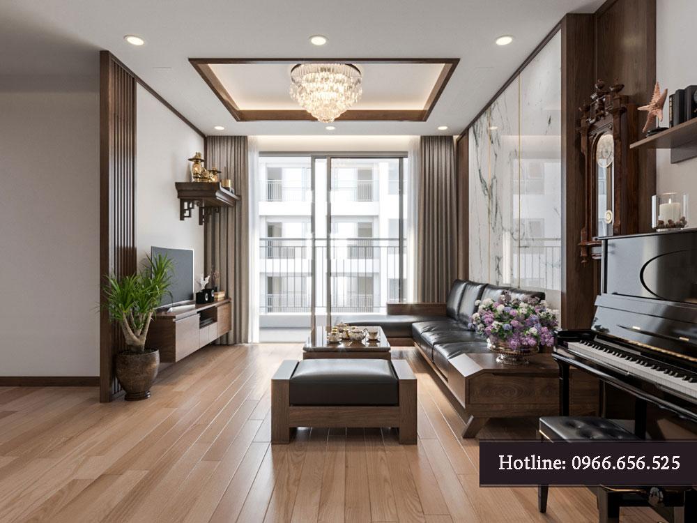 thiết kế nội thất chung cư tecco thanh trì ảnh 7
