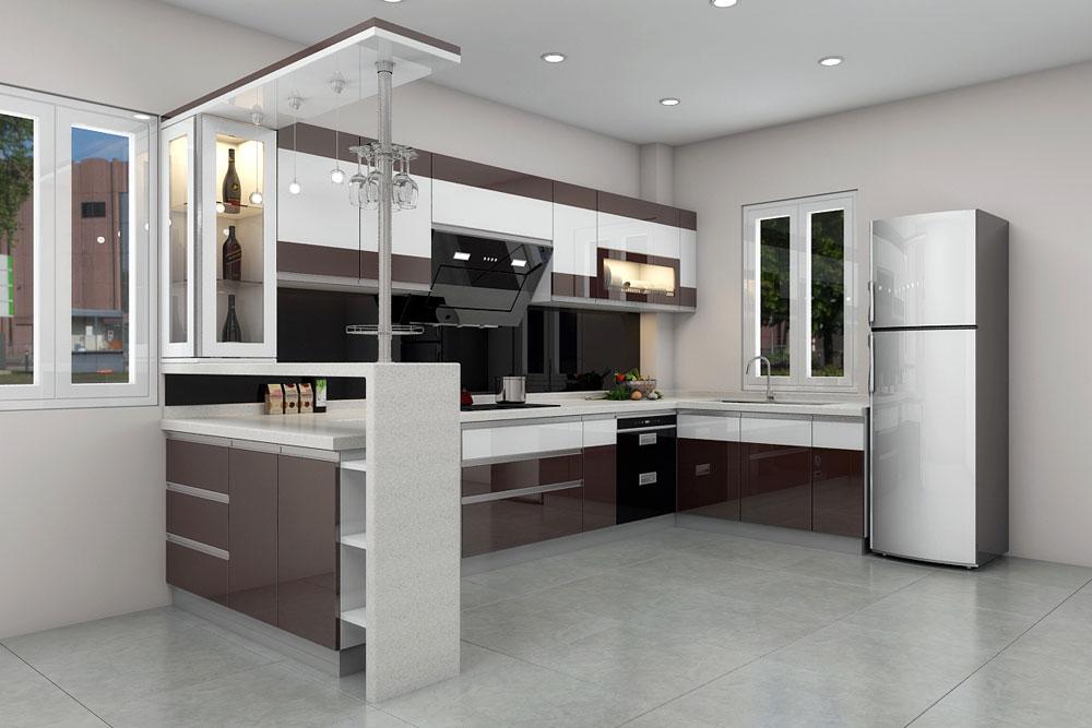 thiết kế nội thất phòng bếp sáng tạo đẳng cấp