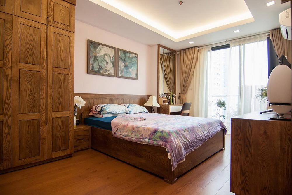 thi công nội thất chung cư bằng gỗ sồi ảnh 3
