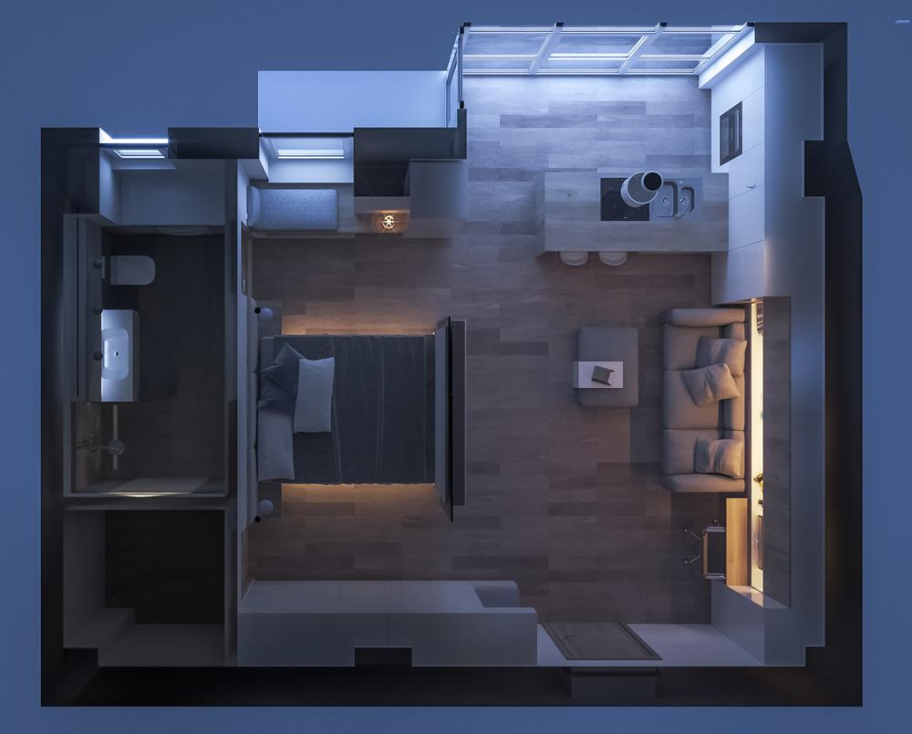 Ý tưởng thiết kế nội thất chung cư mini cho người độc thân