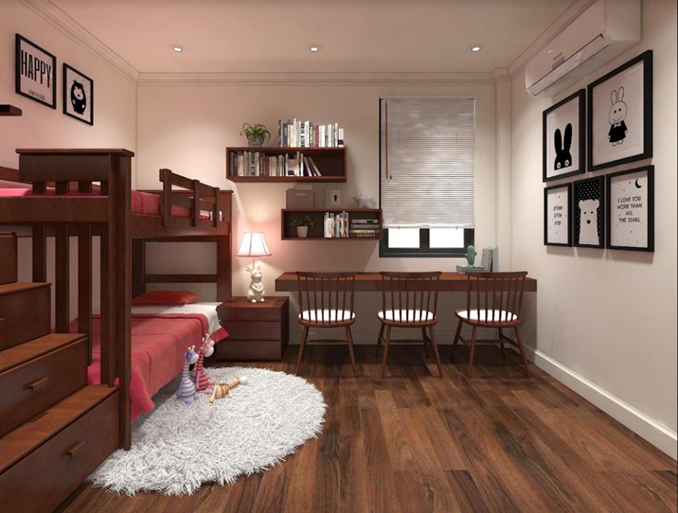 Thiết kế nhà phố 3 tầng nội thất gỗ sang trọng ảnh 11