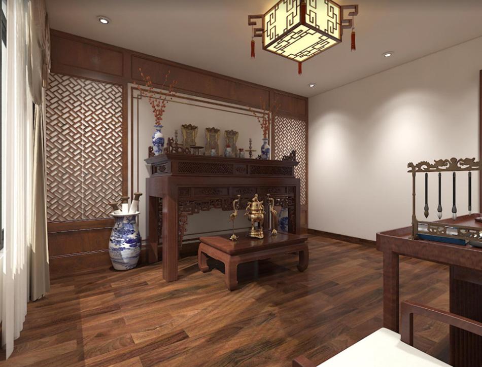 Thiết kế nhà phố 3 tầng nội thất gỗ sang trọng ảnh 18