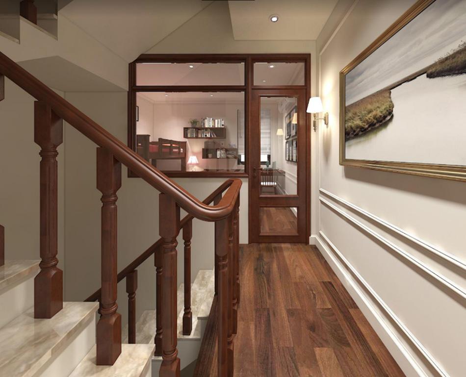 Thiết kế nhà phố 3 tầng nội thất gỗ sang trọng ảnh 8