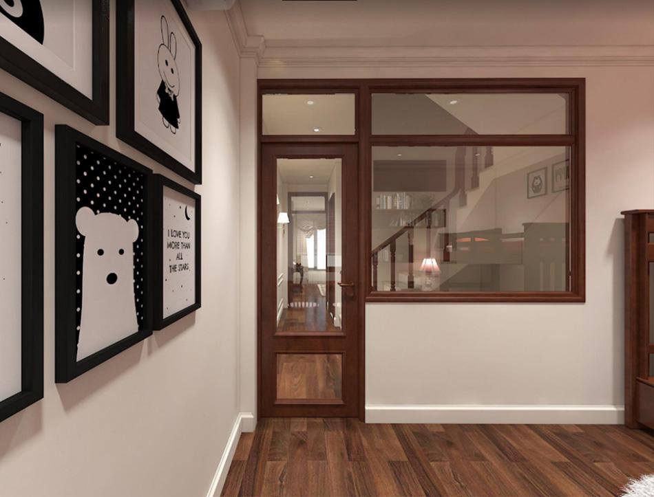 Thiết kế nhà phố 3 tầng nội thất gỗ sang trọng ảnh 9