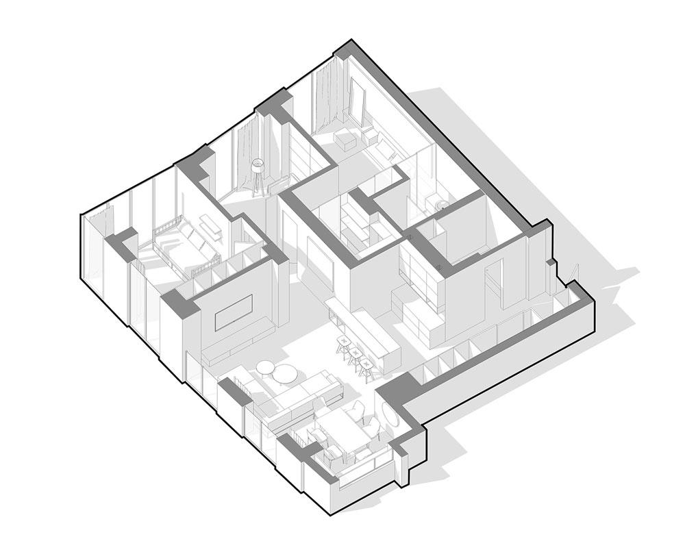 thiết kế nội thất chung cư 110m2 đẹp 1