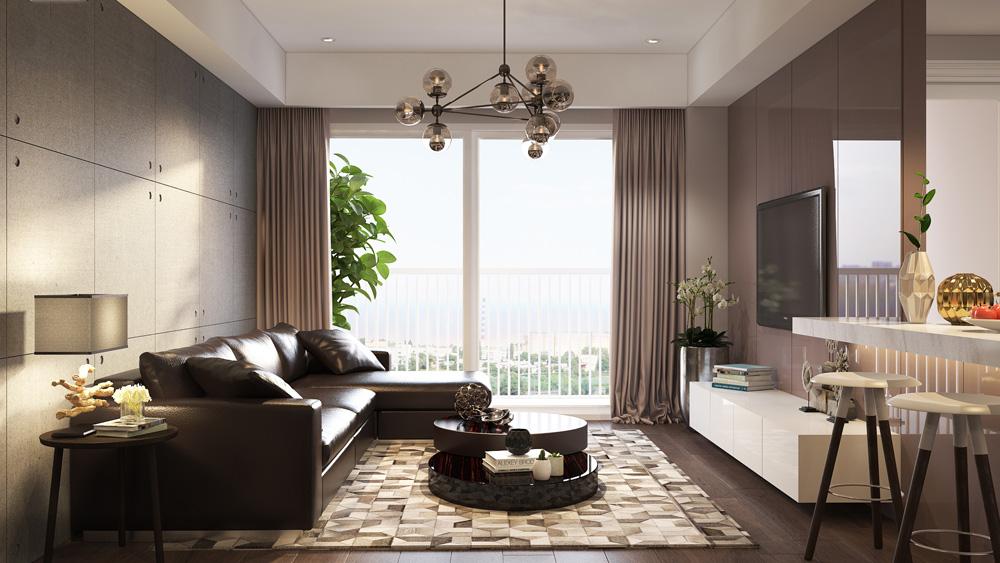 thiết kế nội thất chung cư nhỏ đẹp 1 phòng ngủ ảnh 1