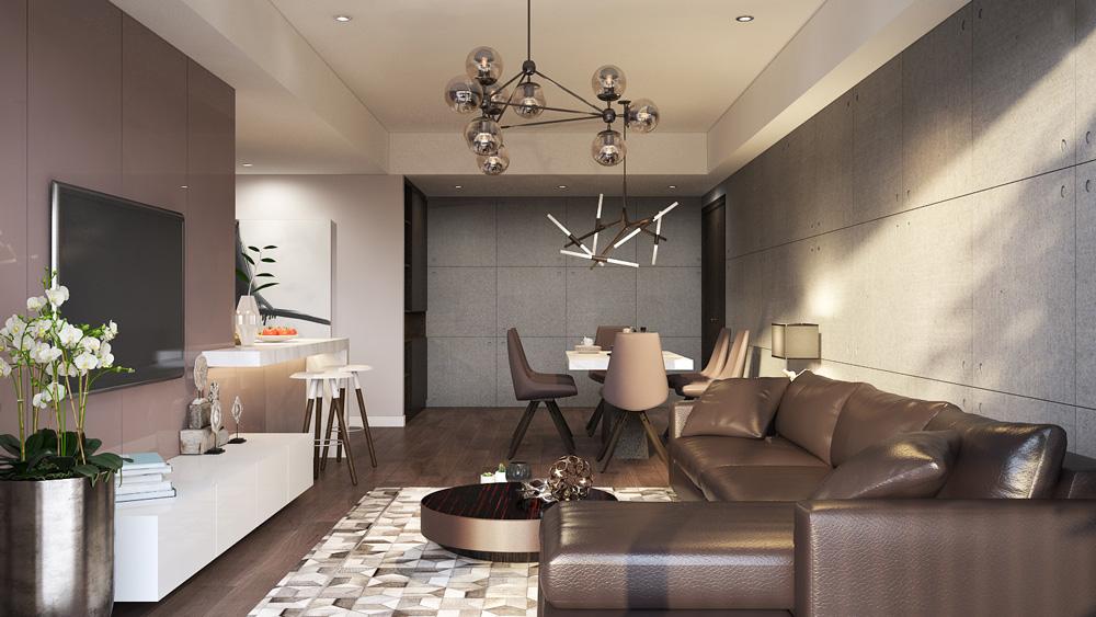thiết kế nội thất chung cư nhỏ đẹp 1 phòng ngủ ảnh 2