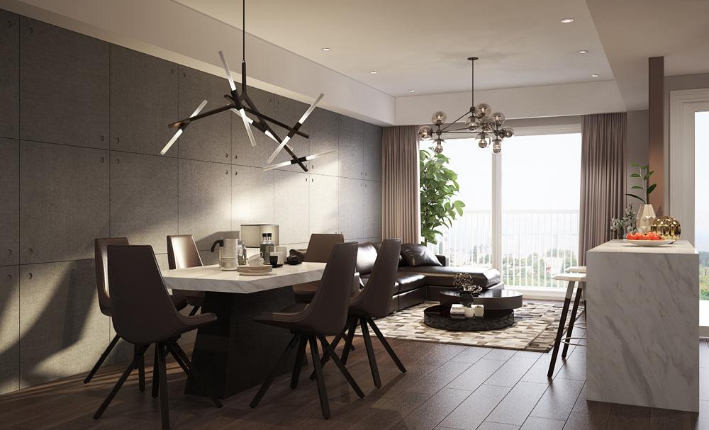 Thiết kế nội thất chung cư nhỏ đẹp 1 phòng ngủ