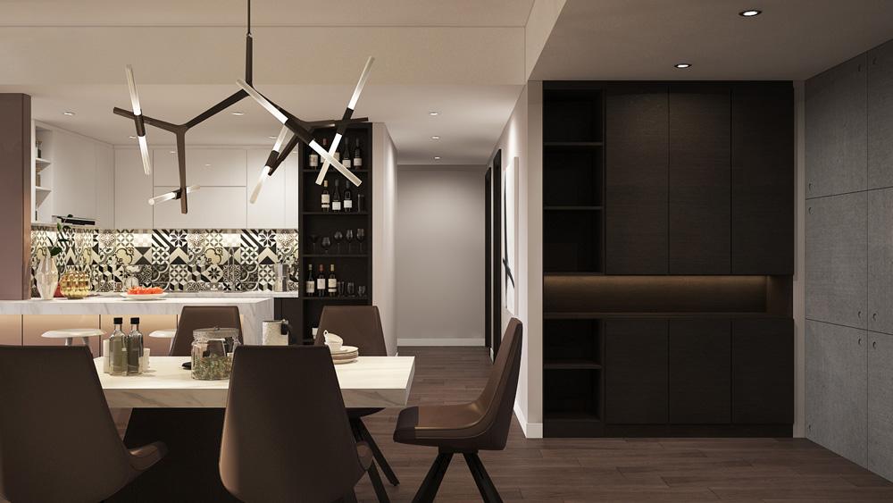 thiết kế nội thất chung cư nhỏ đẹp 1 phòng ngủ ảnh 5