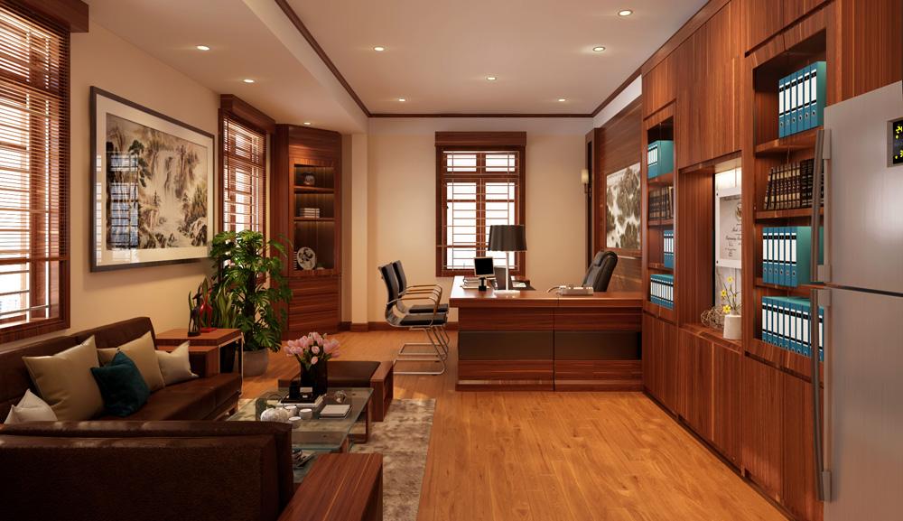mẫu thiết kế nội thất phòng giám đốc đẹp 1