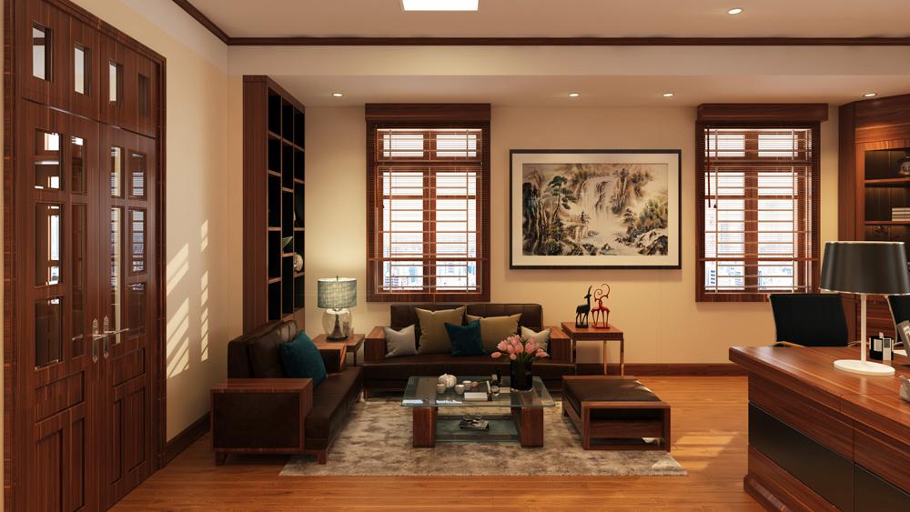 mẫu thiết kế nội thất phòng giám đốc đẹp 4