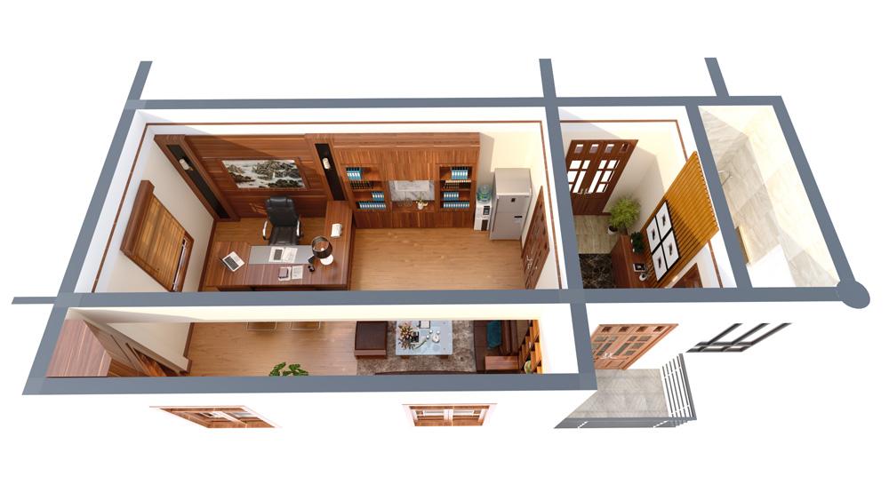 mẫu thiết kế nội thất phòng giám đốc đẹp 7
