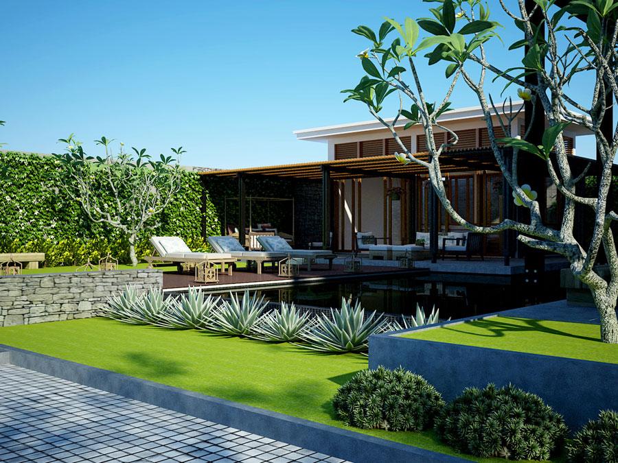 phong cách biệt thự nhà vườn