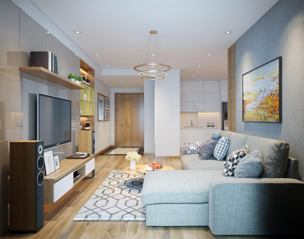 thi công nội thất chung cư bằng gỗ công nghiệp 2