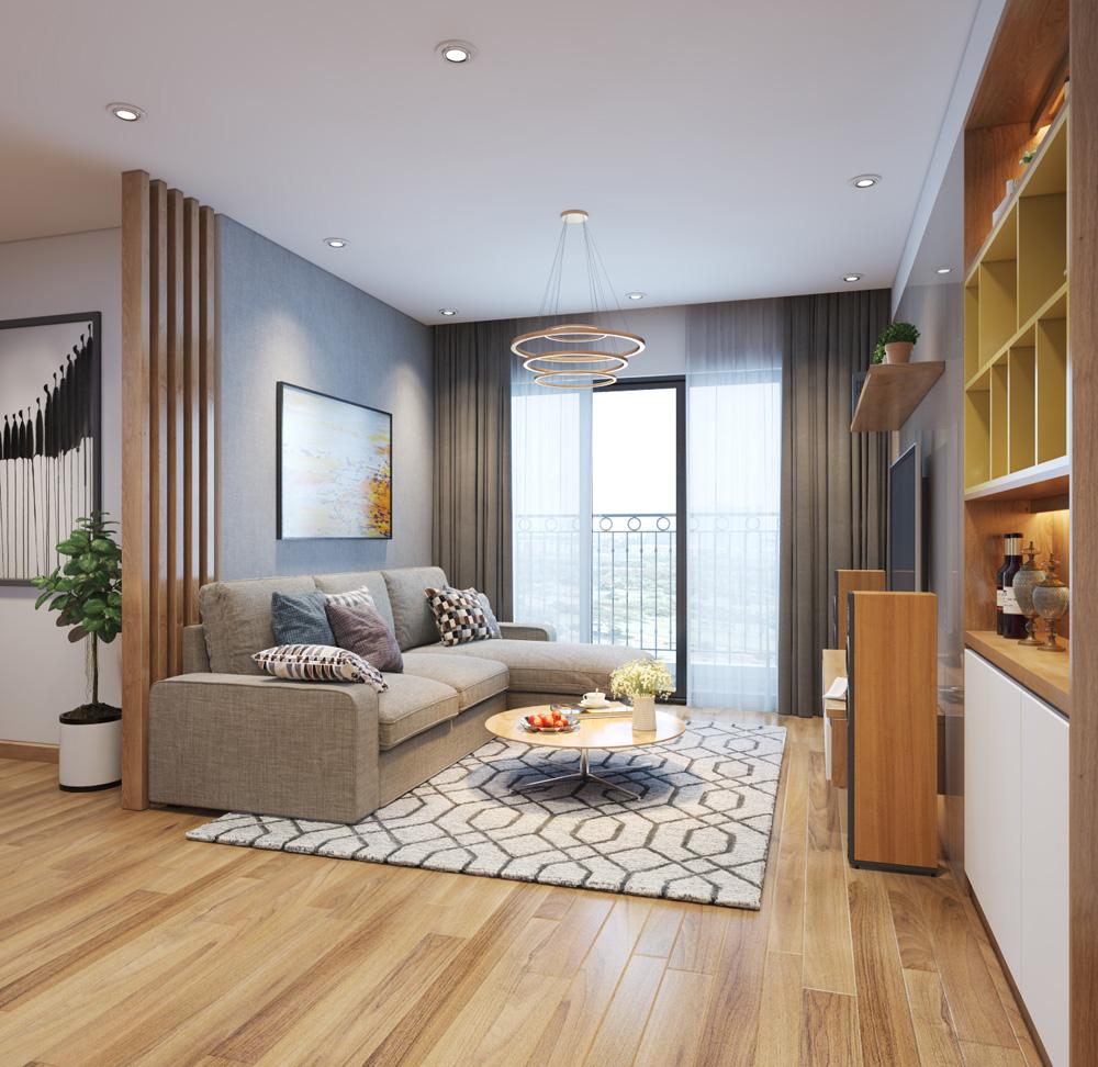 thi công nội thất chung cư bằng gỗ công nghiệp 4