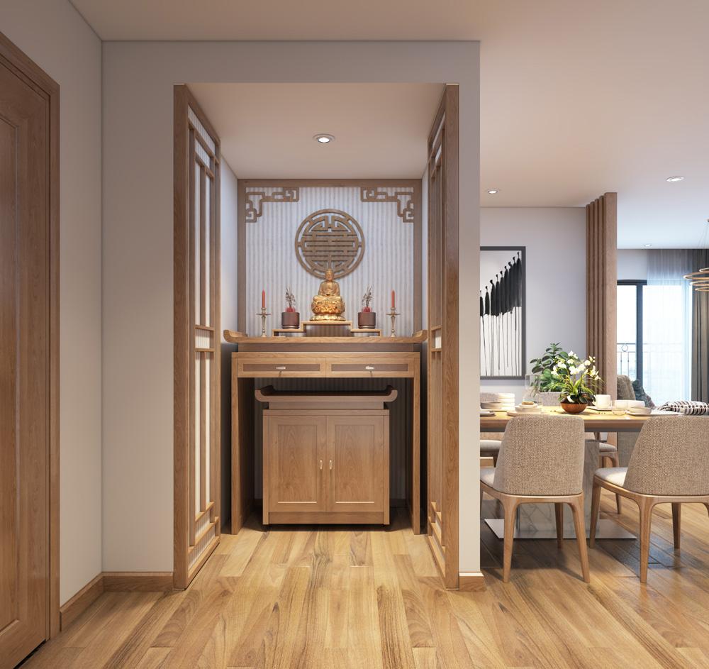 thi công nội thất chung cư bằng gỗ công nghiệp 8