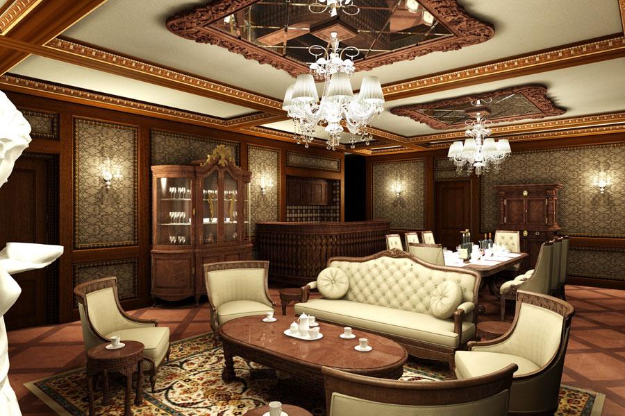 thiết kế nội thất biệt thự classic quý tộc