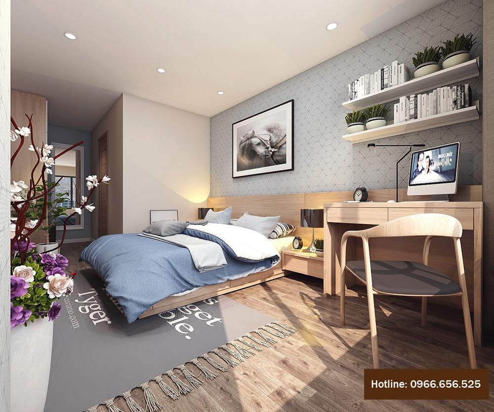 thiết kế nội thất chung cư 4 người ở 8