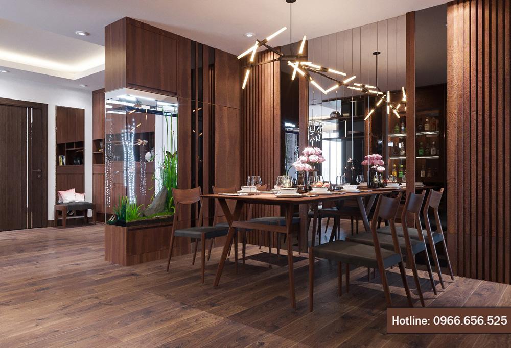 Thiết kế nội thất chung cư cao cấp Hà Nội đẹp quyến rũ