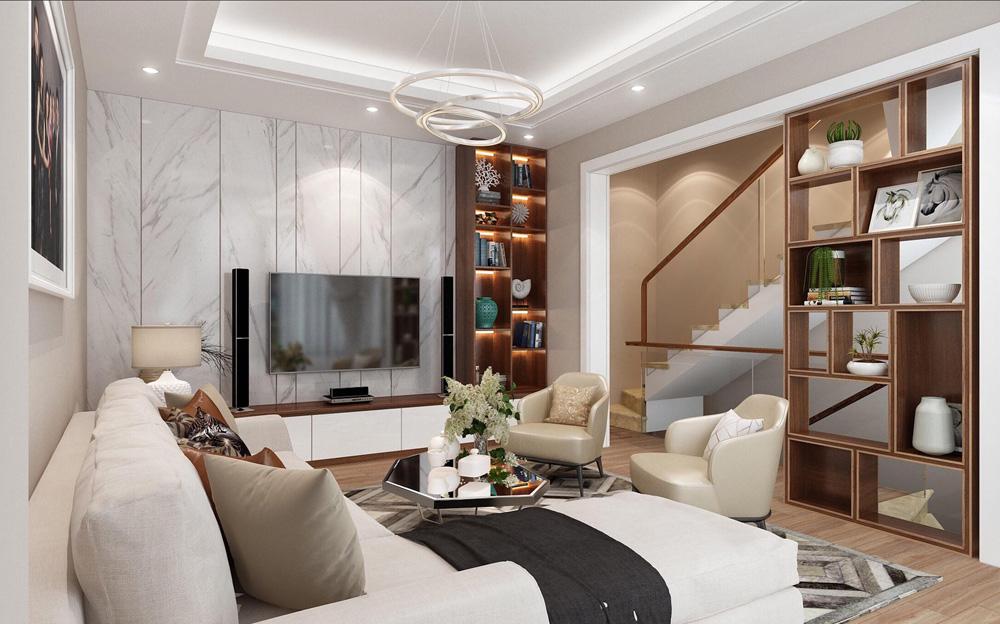 Thiết kế nội thất nhà phố 4 tầng hiện đại tiện nghi