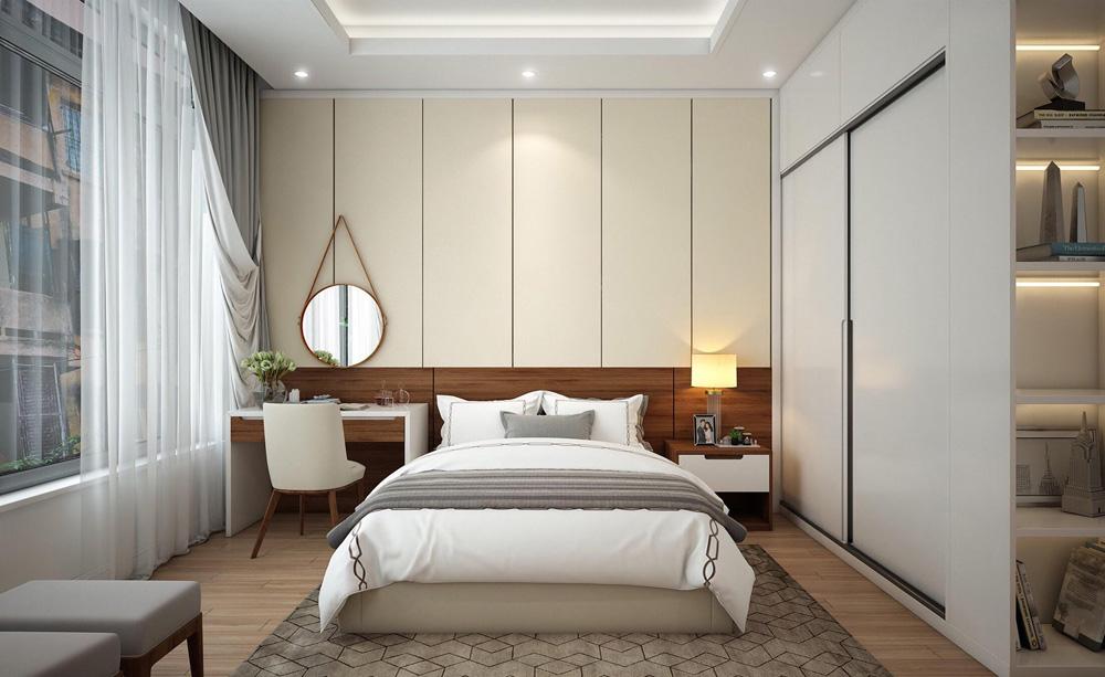 thiết kế nội thất nhà phố 4 tầng phòng ngủ master1