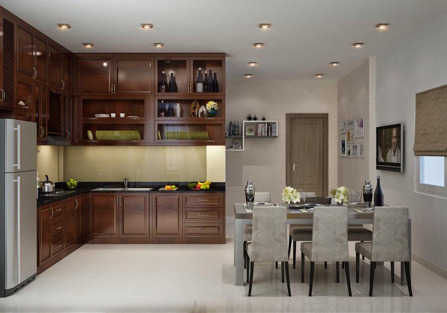 thiết kế sắp xếp phòng bếp thông minh