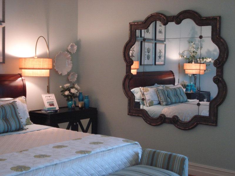 trang trí phòng ngủ bằng gương