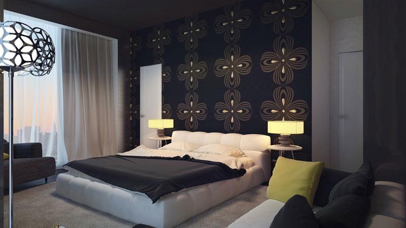 trang trí phòng ngủ bằng hình dán nghệ thuật