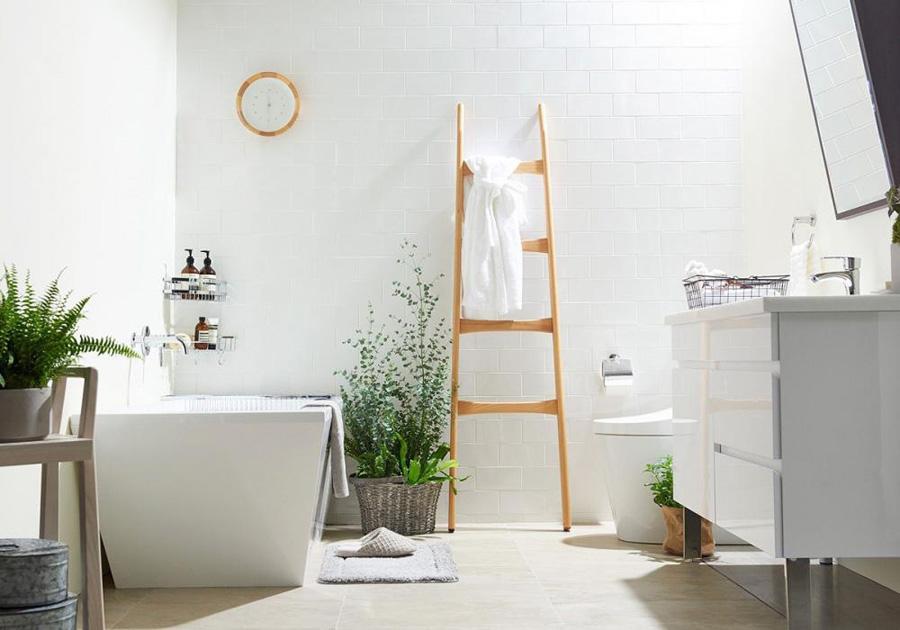 bố trí cây xanh trong phòng tắm 1