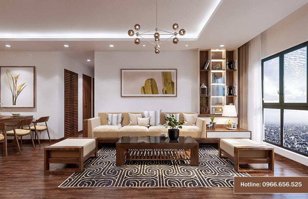 mẫu thiết kế nội thất chung cư sang trọng hiện đại 13