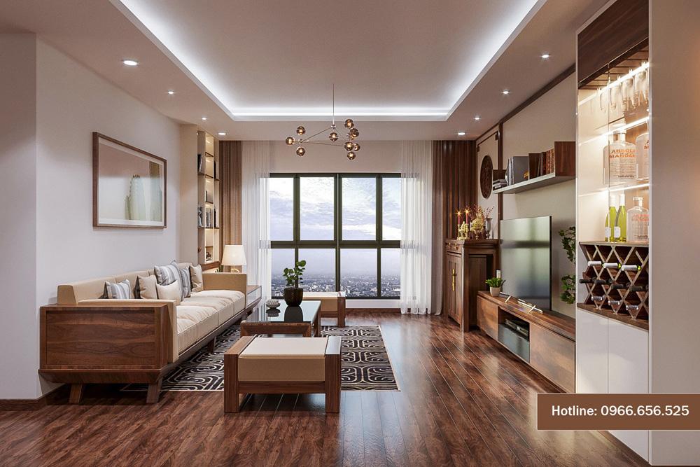 mẫu thiết kế nội thất chung cư sang trọng hiện đại 16