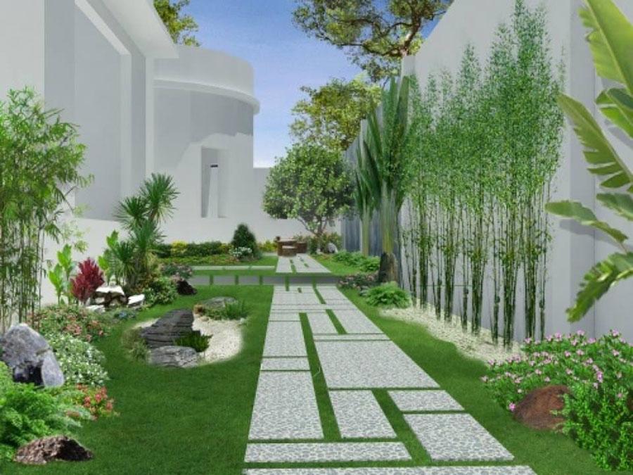 sân vườn đẹp cho căn hộ