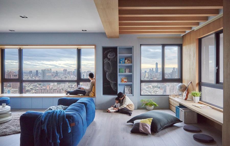 thiết kế không gian mở cho trẻ em